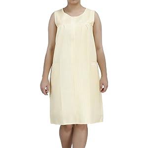 515ff89260 EZI Women s Sleeveless Zipper Gingham Shift House Dress Duster ...