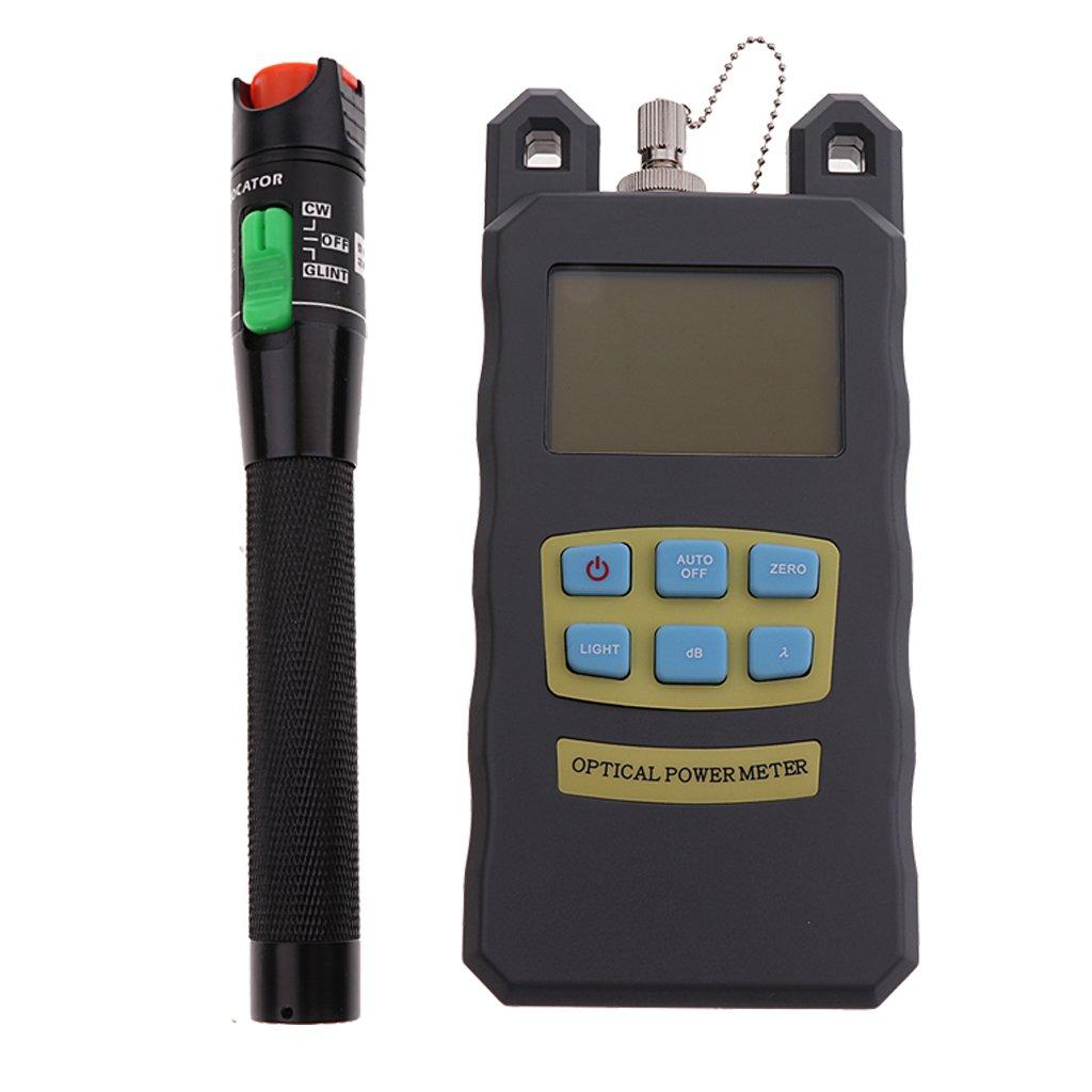 Homyl Power Meter Tool& VFL Red Light Pen Black 30mV Fiber Optic Cable Equipment Test