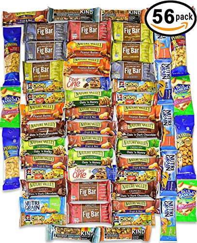 Healthy Snacks and Bars Variety Pack Gift Snack Box - Bulk Sampler (Care Package 56 Count) (Good Things To Send In A Care Package)