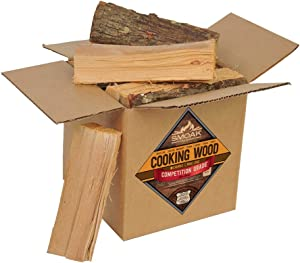 Smoak Firewood Cooking Wood Logs - USDA Certified Kiln Dried (Hickory, 8in Pieces (08-10lbs))