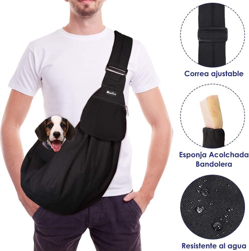 SlowTon Bandolera para Perro, Pet Carrier Dog Puppy Hand Sling para Cachorros Bandolera Correa de Hombro