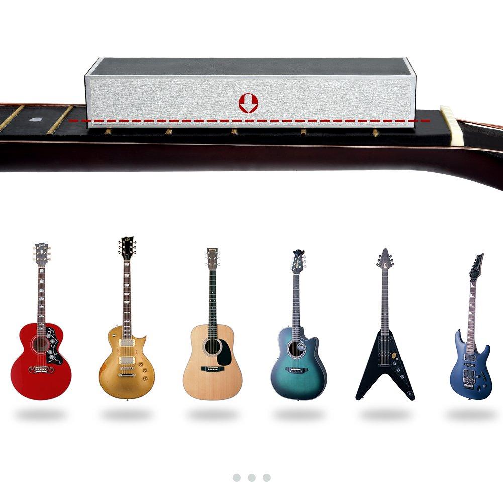 IRICH - Kit de medición y pulido para guitarra con luthier Guitar Tech Herramientas para guitarra eléctrica, guitarra acústica, bajo eléctrico, etc.