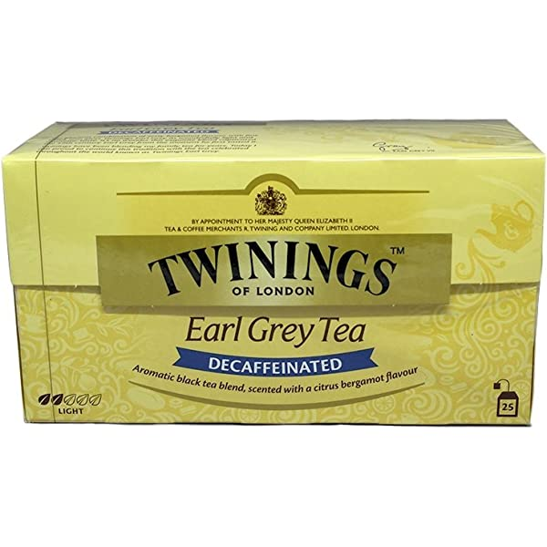 Twinings Of London Té Earl Grey Descafeinado - 25 Bolsitas: Amazon.es: Alimentación y bebidas