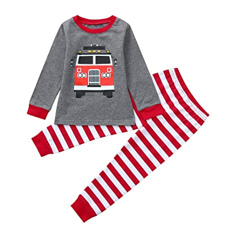 f6e99d46fdb2 Baby Clothes Outfits,2-7 Years Toddler Kids Boys Girls Long Sleeve Cartoon  Print Tops Pants (4T, Red): Musical Instruments