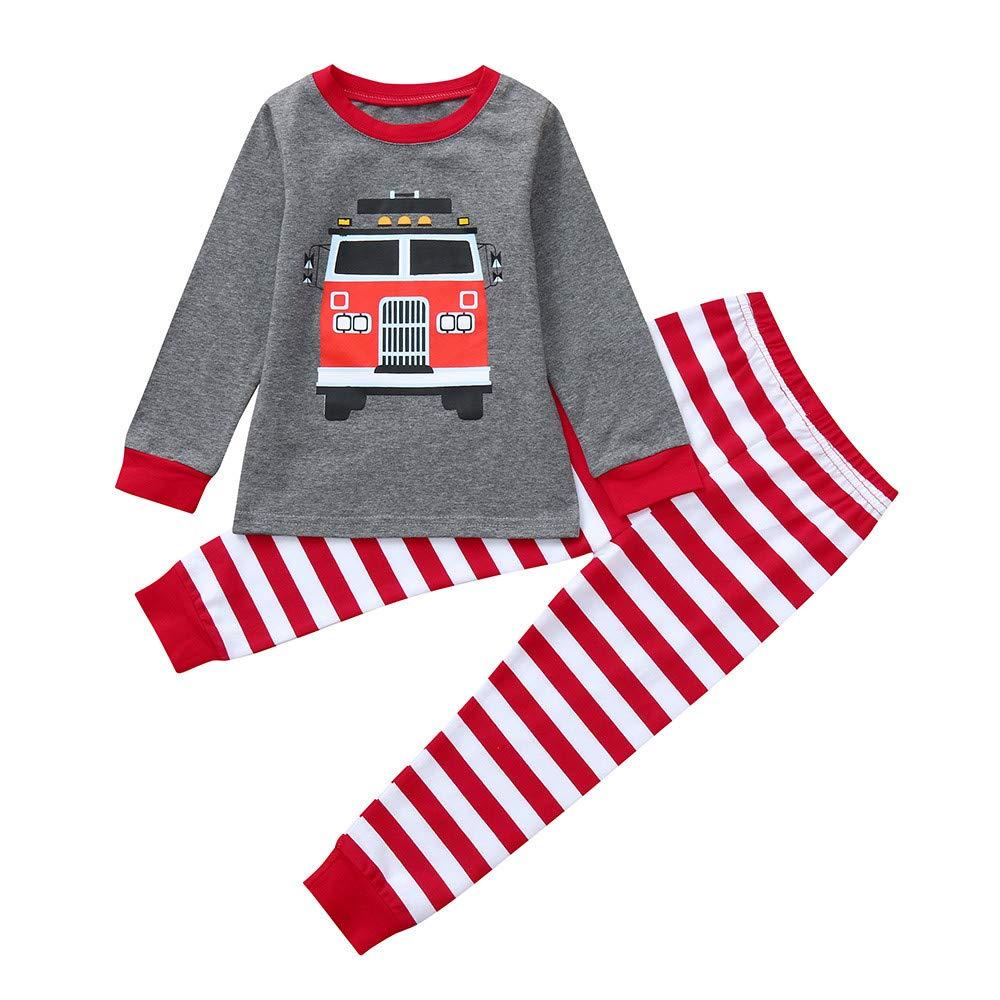 2PCs Baby Cartoon Print Long Sleeve Top + Long Pant Autumn Outfit Set CieKen