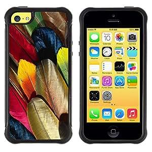 Suave TPU GEL Carcasa Funda Silicona Blando Estuche Caso de protección (para) Apple Iphone 5C / CECELL Phone case / / Feathers Colorful Bird Art Wallpaper Drawing /