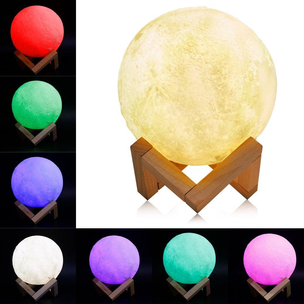 Lampe Lune 3d Veilleuse Led Lampe Lune 15cm Avec Telecommande