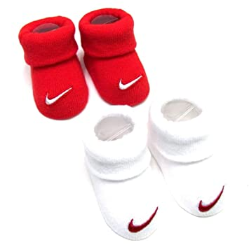5900b0f49 Image Unavailable. Image not available for. Color  Nike Swoosh Logo Baby  Infant Booties Crib Socks
