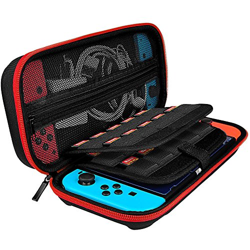 Hestia Goods Nintendo Switch Hard Carrying Case with 20 Game Holder, Deluxe Hard Shell Travel Carrying Case, Hard Pouch Case for Nintendo Switch Conso…