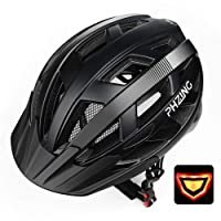 Deals on PHZ Adult Bike CPSC Certified Helmet with Led Back Light