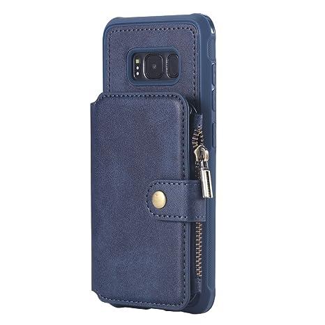 KITFINEEU Galaxy S8 Carcasa, Caso Simple de Negocios,Azul ...