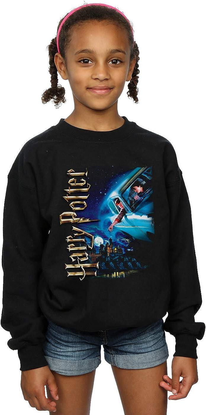 Harry Potter M/ädchen Smiles at Hogwarts Sweatshirt Schwarz 9-11 Years