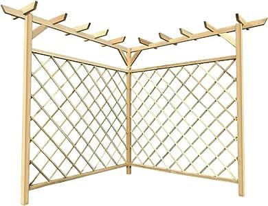 Tidyard Pérgola Esquinera Pérgola de Jardín de Resistente a la Corrosión y al Agua de Madera de Pino 160 x 160 x 197 cm: Amazon.es: Hogar