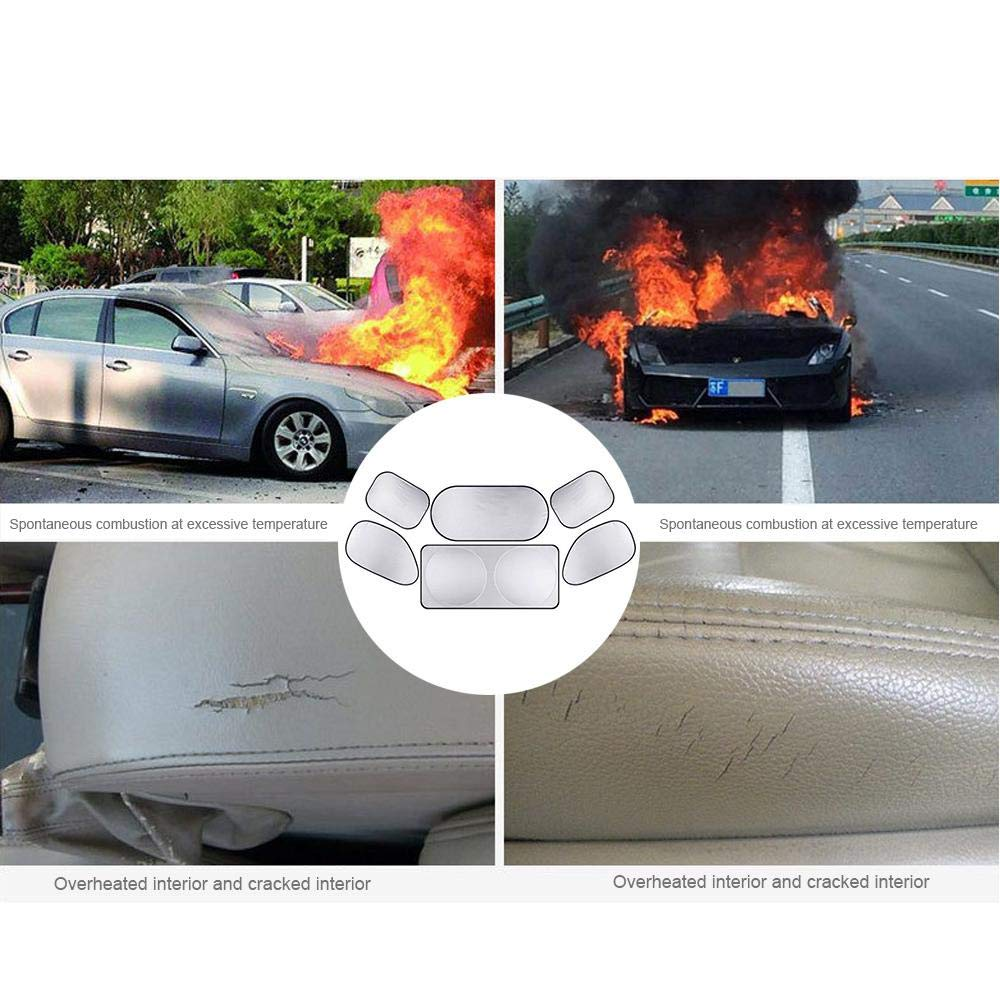 Volwco Car Windshield Sunshade Universal Fit Blocks UV Rays Car Window Sun Shades for Rear and Side Keeps Your Vehicle Cool Sun Reflector