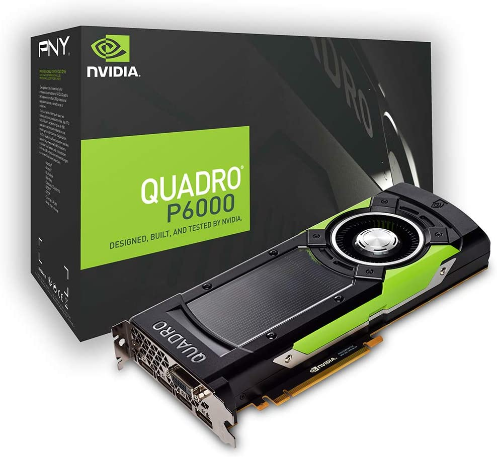 NVIDIA Quadro P6000 - Graphics card - Quadro P6000 - 24 GB GDDR5 - PCIe 3.0 x16 - DVI, 4 x DisplayPort