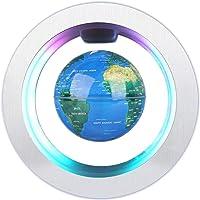 Forma C de Globo Flotante de levitación magnética rotación del mapa del mundo con luces LED Tierra Globo Para Decoración de Escritorio Regalo de Cumpleaños de Navidad (EU)