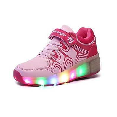 SAGUARO® Zapatillas con ruedas led 7 colores deportivas carrefour para niños mujer hombre 2015