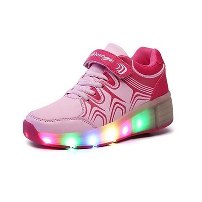SAGUARO® Zapatillas con ruedas led 7 colores deportivas ...