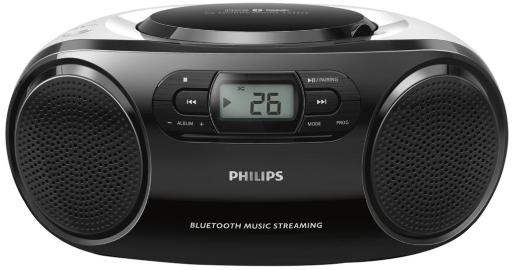 Philips AZ330T/12 - Reproductor de CD (Bluetooth, USB Directo), Negro
