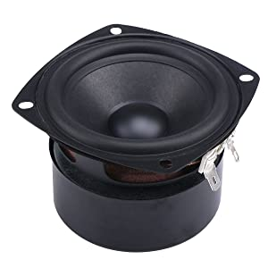 DROK 15W Mini 3 Inches HiFi Full Range Speaker 4 Ohm Anti-Magnetic Audio 2.0 2.1 Home Stereo Woofer Loudspeaker 90dB High Sensitivity for DIY Boombox Satellites Speaker