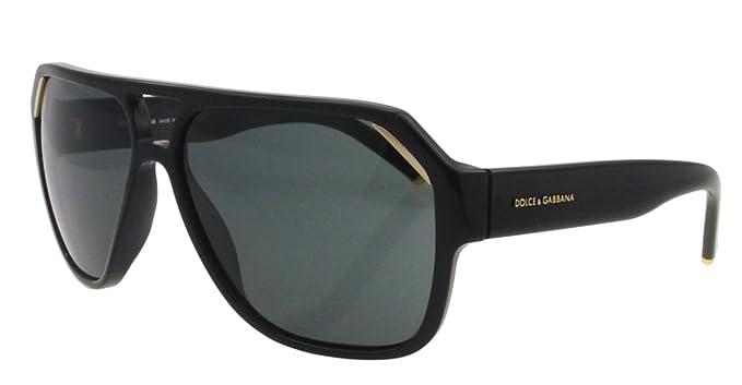 d1f36417ea91 DOLCE&GABBANA D&G DG Sunglasses DG 4138 BLACK 501/87 DG4138: Amazon ...