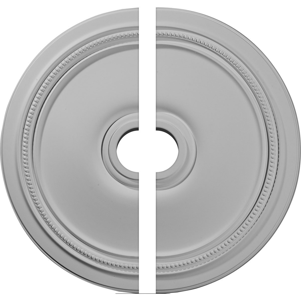 Ekena Millwork CM24DI2 24'' OD x 3 5/8'' ID x 1 P Diane Ceiling Medallion, Two Piece (Fits Canopies up to 6 1/4''), Factory Primed White