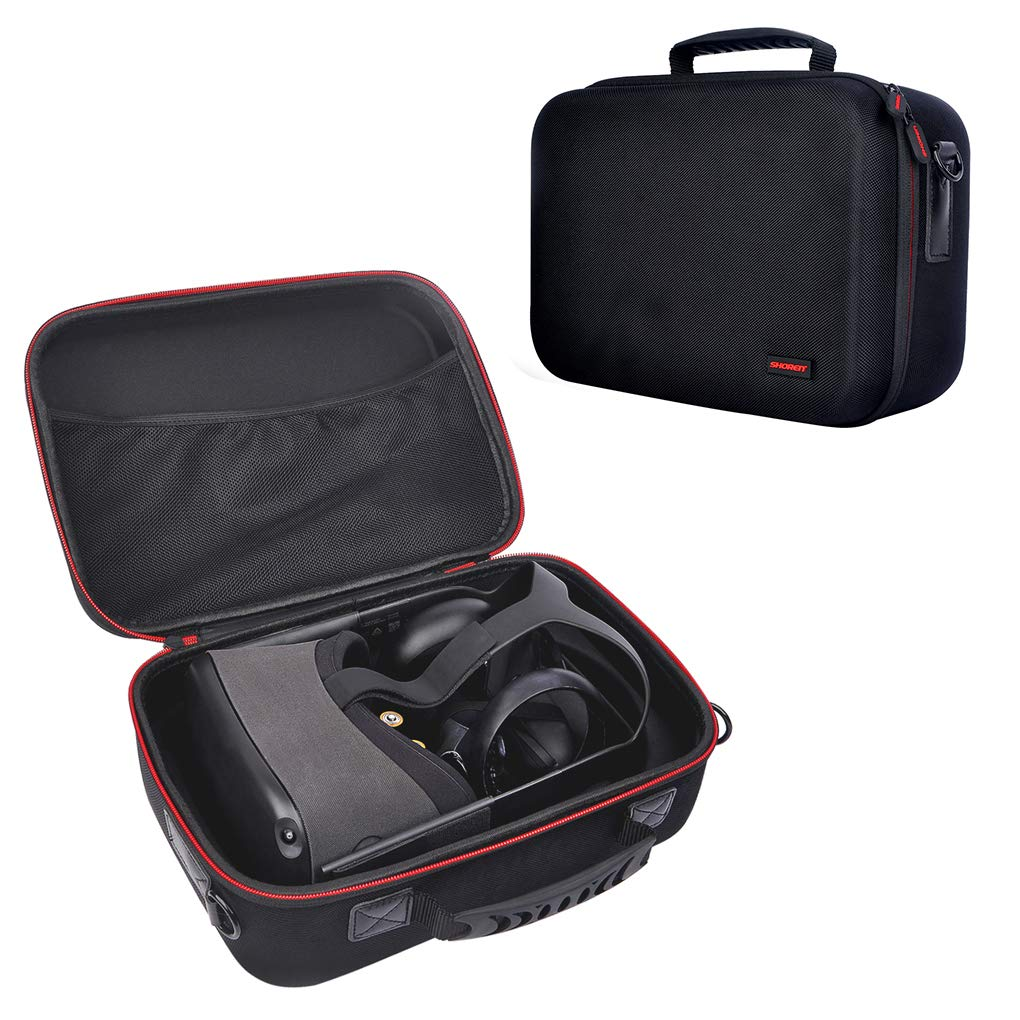 FNSHIP Fashion Hard Travel Case Carrying Bag for Oculus Quest VR Gaming Headset And Quest Controllers Accessories(Black)