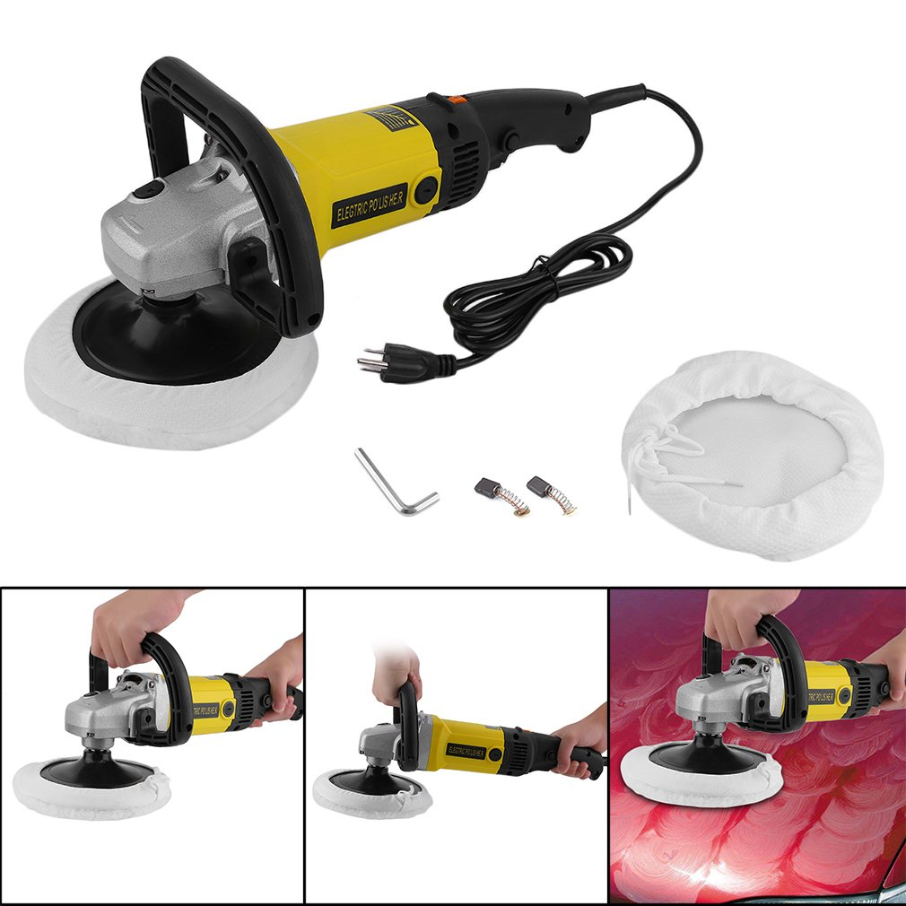 CATUO Professional Electric 6 Variable Speed Car Polisher Buffer Waxer Sander Polishing Machine for China Ken with Carry Box & Accessories (Variable Speed but NOT Random)