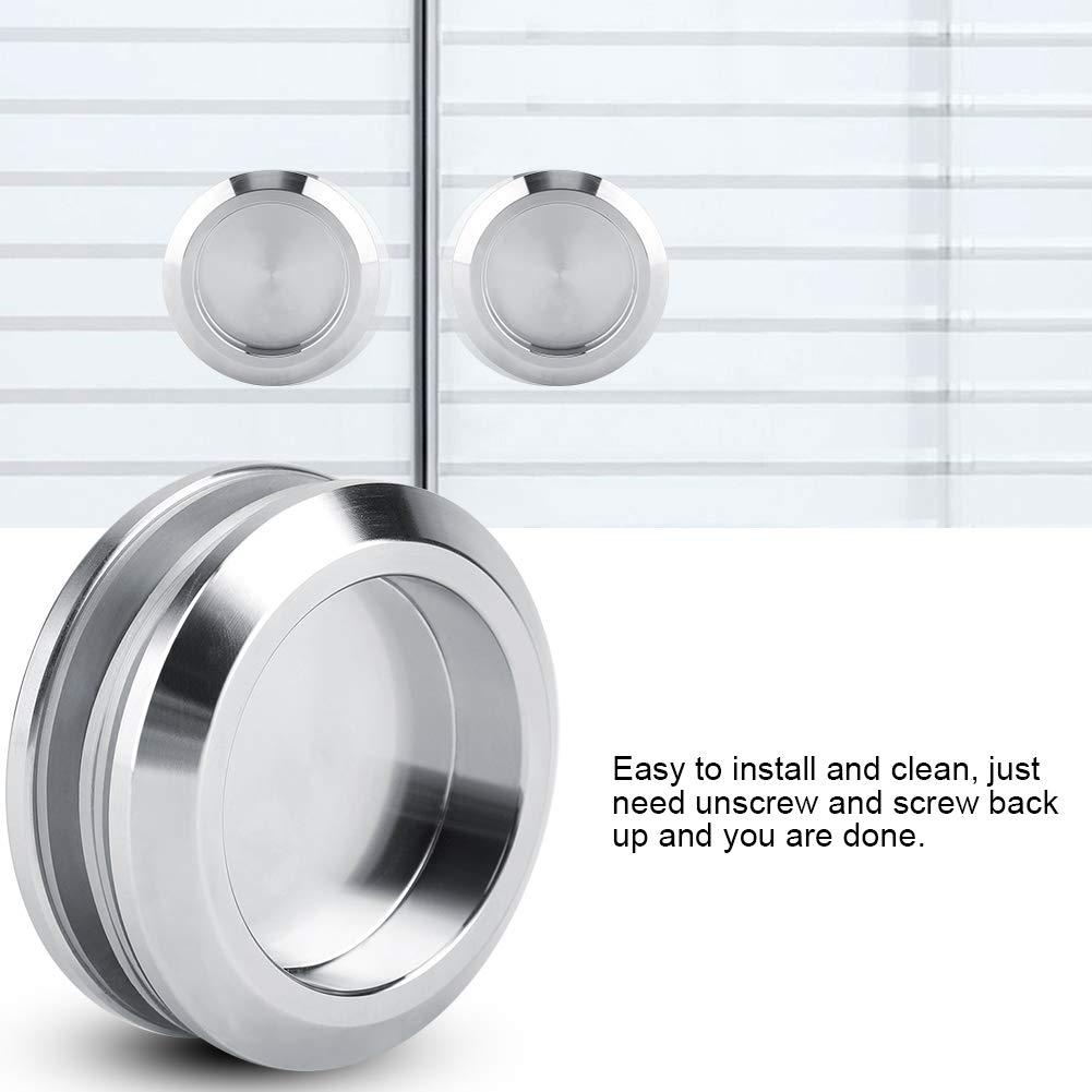 304 Stainless Steel Door Handle Pull Knob Bathroom Door Handle Commercial for Home Hotel Toilet Pokerty Door Handle