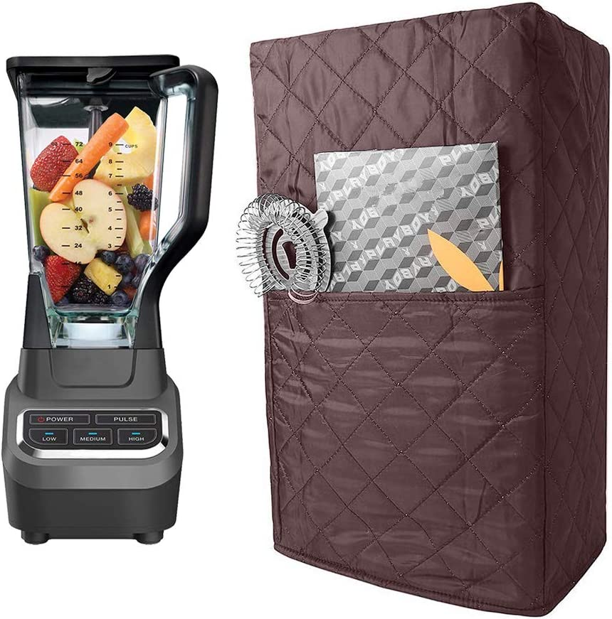 Quilted Blender Cover, Polyester Cotton Blender Appliance Cover, Kitchen & Dining Small Appliance Dust and Fingerprint Protection TFC437