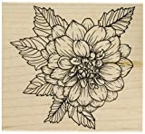 Hero Arts K6214 Artistic Dahlia Red Rubber Wood Stamp