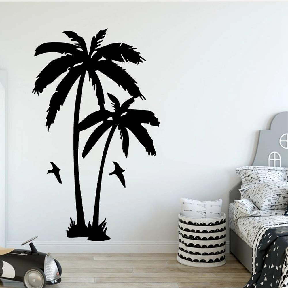 SLQUIET Etiqueta de la pared de la planta del árbol de coco sala ...