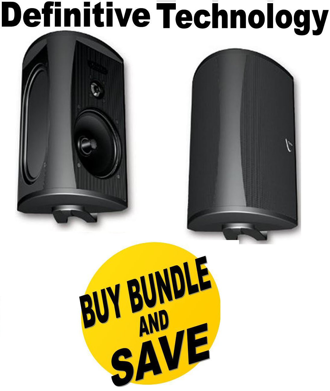Definitive Technology AW 6500 Outdoor Speakers (Pair) - Black Bundle