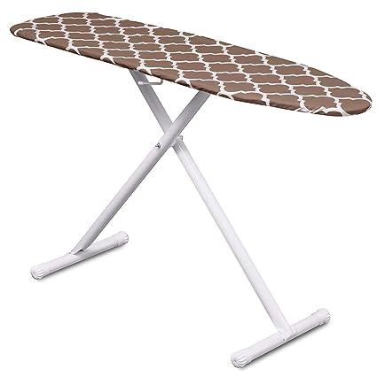 Mabel Home T-LEG altura ajustable tabla de planchar con marrón/blanco estampado,