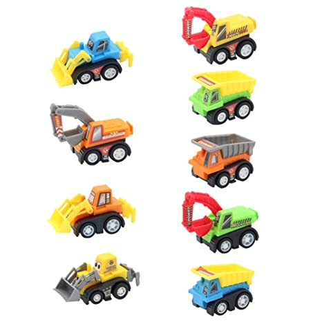 Vehículos de Construcción Mini Coches Juguetes Niños Set de Camiones Niña 3 4 5 Años (9 Pedazos)