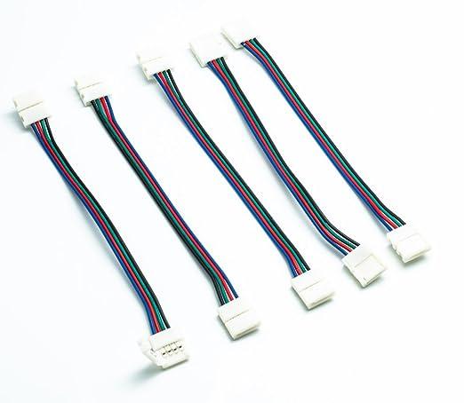 26 opinioni per QUMOX @ 5 Connettori PCB LED per striscia a LED RGB 5050