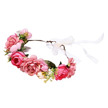 Women Flower Headband Hair Garland Wreath Wedding Bridal Crown Hair Accessories