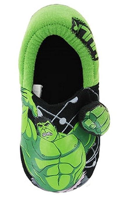 a10d1c9fdda3 Marvel Avengers Incredible HULK 3D Slippers UK Sizes (4 5