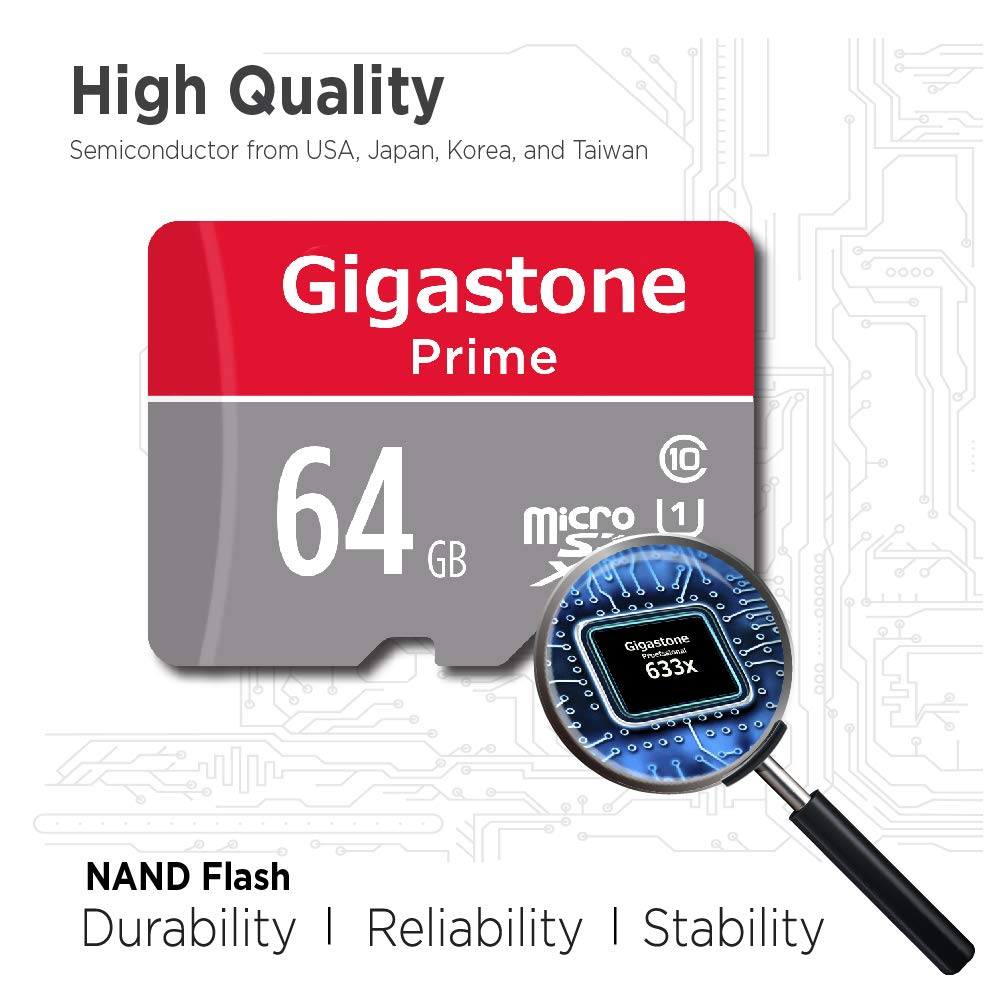 Amazon.com: Gigastone Tarjeta MicroSD UHS-I U1 clase 10 SDXC ...