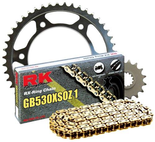 RK Racing Chain 4102-060WG Steel Rear Sprocket and GB530XSOZ1 Chain 20,000 Mile Warranty Kit
