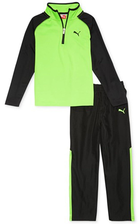 Puma Little Boys 2-Piece Colorblocked Jacket /& Pants Set 4 Green