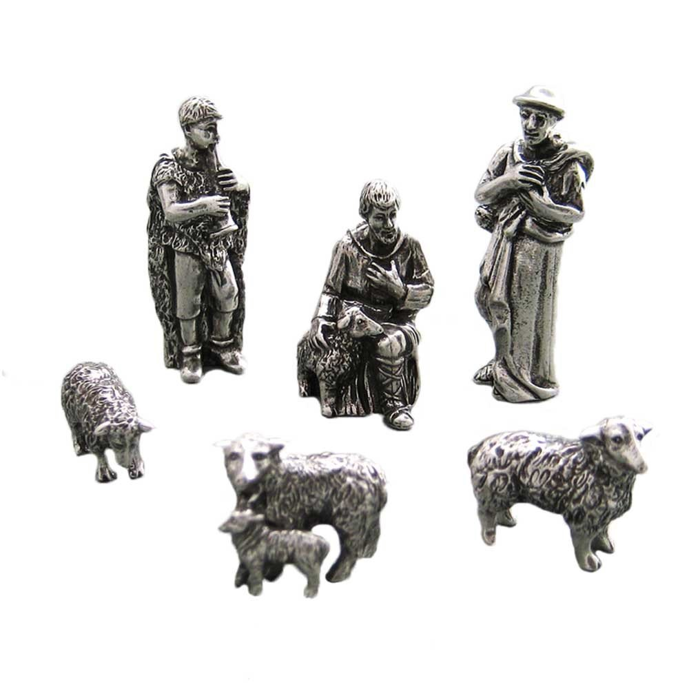 DANFORTH - Shepherd & Sheep Pewter Nativity Set - Handcrafted - Gift Boxed - Made in USA by DANFORTH