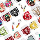 Airpods Skin(12 sets) Protective Airpods decal Airpods wrap Stylish to Customize & Protect your Apple AirPods (mutiple)