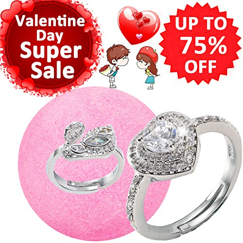 Ruby Swirl Ring (Bath Bombs with Rings Surprise Inside for Women Lush Jewelry Bath Bomb Hidden Diana Diamond Heart Rings Bubble Love Bling Treasure Fizzies Kit for Kids of All Sizes Best Valentine Day Gift Set)