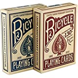 Bicycle 130th ANNIVERSARY EDITION Red & Blue Playing Cards 2 Deck Set