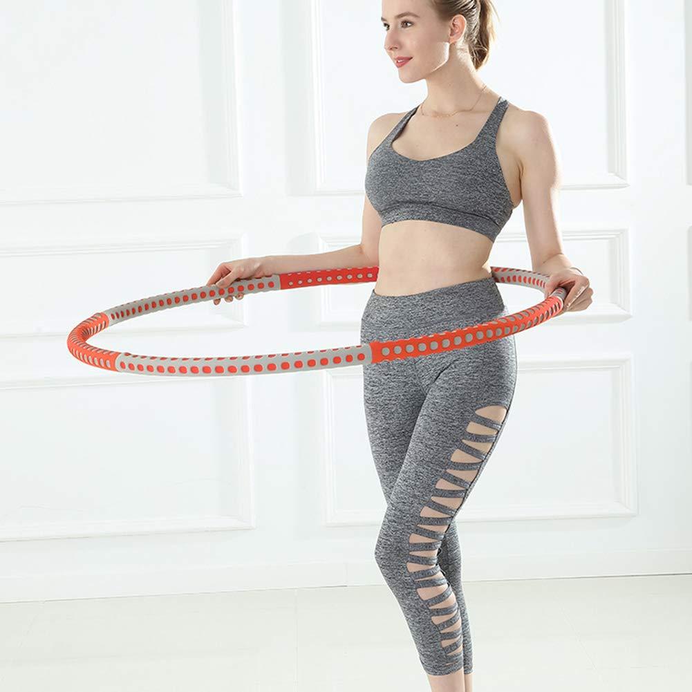 96 cm SAHWIN/® Hula Hoops Exercise Hula Hoop,6 Section Splicing Detachable Design Adjustable Width -Professional Fitness Hula Hoop with Waist Ruler