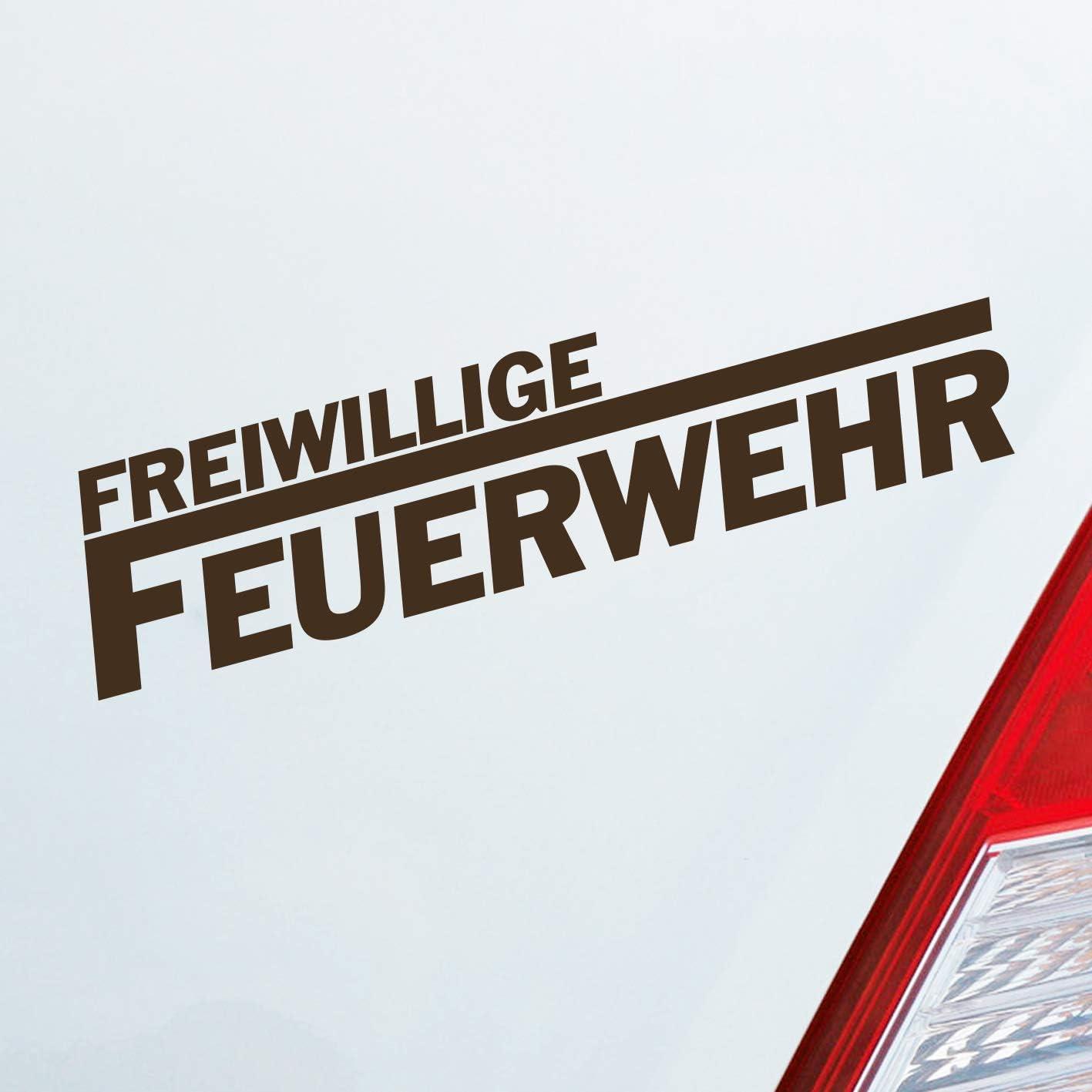 Auto Aufkleber In Deiner Wunschfarbe Freiwillige Feuerwehr Langes F Leben 19 5x4 5cm Autoaufkleber Sticker Folie Auto