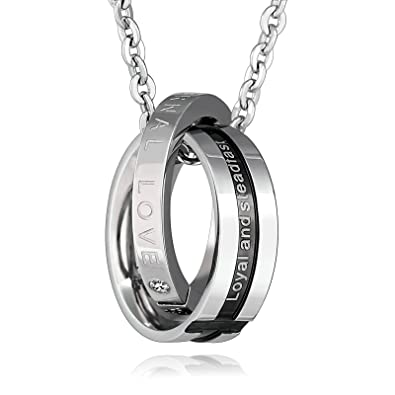 2e54f75c84e58 ANAZOZ Men Jewelry, Mens Cubic Zirconia Stainless Steel Engraving ...