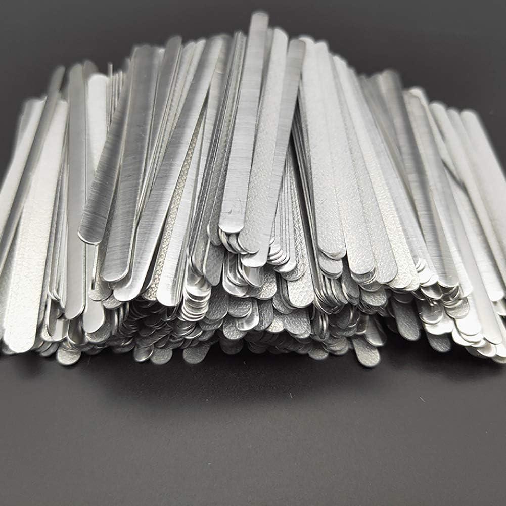 Airssory 100 piezas de metal adhesivo plano de aluminio barra de barra adhesiva para puente de clip de banda DIY - 3.3