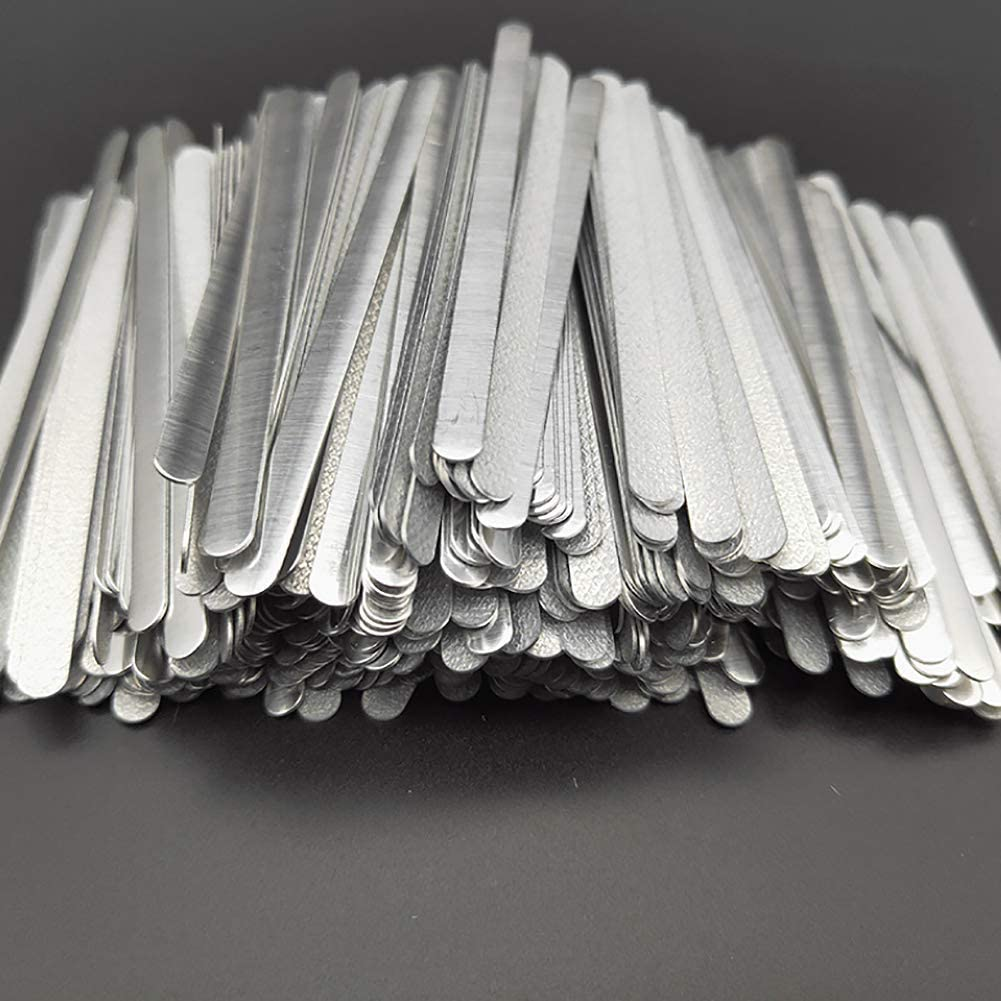 Cordón elástico plano. 9 cm Barra de aluminio plana.